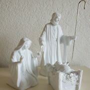 Dept 56 Silhouette Holy Family Miracle Christmas 3 Piece White Nativity Jesus