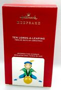 Hallmark Twelve Days Of Christmas Ten Lords-a-leaping Ornament 2020