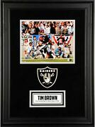 Tim Brown Oakland Raiders Deluxe Framed Signed 8x10 Running Photo And Hof2015 Insc