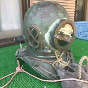 Antique Interior Used From Japan Toa Divers Diving Helmet Vintage