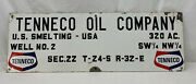 Vintage Tenneco Oil Company Well No.2 Porcelain Sign 30x9 7/8..rare