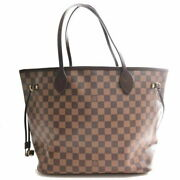 Louis Vuitton Damier Neverfulle Mm Tote Bag Brown Pvc Brand Previously No.4806