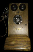 Vintage Western Electric Hand Crank Wall Phone 317- Bu, Not Working Extra Parts