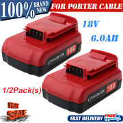 For Porter Cable 18 Volt 6.0ah Lithium Ion Max Battery Pc18b Pc18bl Pc18blx Tool