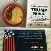 Donald Trump 1 Oz Silver Gold Round Coin Christmas Ornament Made In Usa