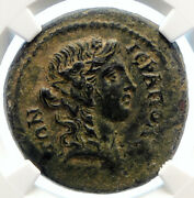 Hierapolis In Phrygia Antique Authentic Ancient Roman Coin Chariots Ngc I96170