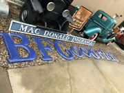 Biig Original Vintage Bf Goodrich Tire Sign Porcelain Gas Oil 35 Tall 21and039 Long