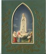 Vintage Christmas Virgin Mary Our Lady Of Fatima Sheep Children Greeting Card