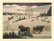 1 Christmas Sheep Country Village Trees Snow House Card 1 Raggedy Ann Andy Card