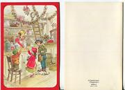 Vintage Christmas Country Store Market Candy Dog Cat Market Apples Greeting Card