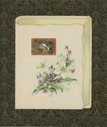 White Lily Squirrel Artisan Print Collage Antique Vintage Paper Aesthetic Art