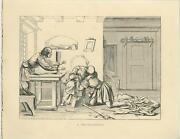 Antique Mother Father Son Hugging Love Reunion Medieval Costume Woodcut Print