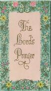 Vintage Bible Scripture Verse The Lords Prayer Scripture Our Father Card Print