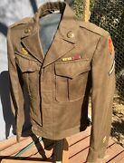 Wwii 25th Infantry Division Artillery Ike Jacket Ww2