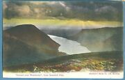 Antique 1907 P/c Sunset Over Wastwater From Scawfell Pike. Abraham Series
