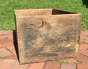 Antique Wood Railway Crate Swift And Courtney Match By Diamond Match Co.andnbsp