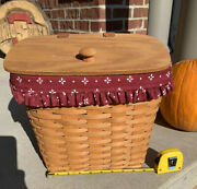 Longaberger 1995 Hostess Mail Basket, Liner, And Protector Combo