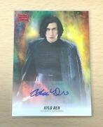 Star Wars Trading Card Kylo Ren Autographed Trading Card