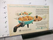 Newspaper Ad 1956 General Electric Ge Automatic Skillet Turquoise Aluminum