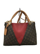 Louis Vuitton V-tote Bb Monogram Canvas Slees Leather Bag Previously No.6847