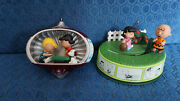 Hallmark Ornaments 2010 Peanuts Charlie Brown Schroeder Lucy 2013 Football Used
