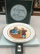 1984 Avon Celebrating The Joy Of Giving Collectorand039s Plate 4th Edition W Thimble