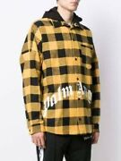 Palm Angels Hoodie Yellow Black Size Xl Near Mint Menand039s Authentic From Jp I17348