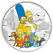 2019 The Simpsons The Family 2 Tuvalu 2oz Silver Proof Coin + Coa