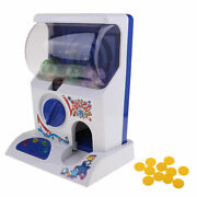 Light And Music Mini Capsule Toy Machine Playset, Including Play Coins And Balls