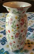 Antique Gold Castle Hand Painted Chikusa Footed Vase Circa 1920and039s-1940and039s