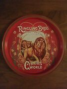 Vintage 1970and039s Circus World Park Metal Tray 11andrdquo Ringling Bros Barnum And Bailey
