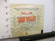 Candy Bar Wrapper 1940s Big Time 2.25 Oz 10 Cents Hollywood Centralia Il