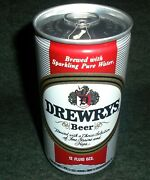 Mint Drewrys Beer 1970's Air Filled Ring Pull Vintage Beer Can
