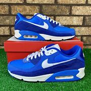 🔷nike Air Max 90 Se Db0636-400 And039first Use Blueand039 Dark Blue Suede Sneakers🔷