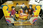 The Beatles Mcfarlane Boxed Set Of Four Figures And A Yellow Submarine New