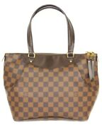 Louis Vuitton Westminster Pm N41102 Damier Ebene Brown Red Women And039s No.1371