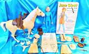 Jane West And Horse Thunderbolt - Includes Accessories And Box - Marx