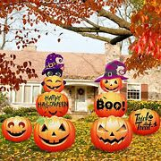 8 Pcs Large Pumpkin Yard Signs Halloween Decorations Outdoor Lawn Party Decor