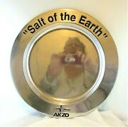 Wilton Armetale Pewter Salt Of The Earth Akzo Dish Tray Plate Platter Charger