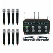 Vocopro Mib-quad-8 Handheld Church Choir Wireless Mic System Cables And Carry Bag