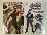 Lot Of 2 The United States Of Captain America 4 Main And Design Variant Set Nm