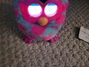 Furby Boom Blue W/pink Hearts Interactive Talking Pet 6.5andrdquo Tested Works Hasbro