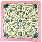 Hermes Perfume Bottles Carre 90 Silk Scarf Women And039s Multi Quiand039 Importe No.3689