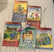 Leap Frog Leap Reader System Pen Charger And Educational Books Huge Set
