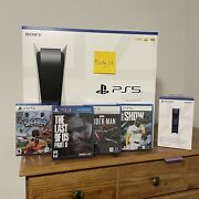 Sony Playstation 5 Ps5 Console Disk Bundle New Factory Sealed - Fast Ship