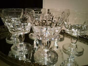 Obsolete Extremely Rare Antique Baccarat Marignane Wine Glass Cups