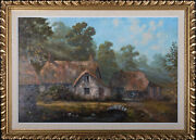 George Horne - 1975 Oil The Old Forge Branscombe