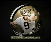 Drew Brees New Orleans Saints Hand Painted Autoand039d Game Issue Style Helmet 1/1