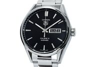 Tag Heuer Carrera Caliber5 Day Date War201a.ba0723 Ss Auto Menand039s Watchf6788