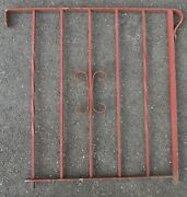 Antique Vintage Wrought Iron Porch Stair Railing Red Paint 32 X 32